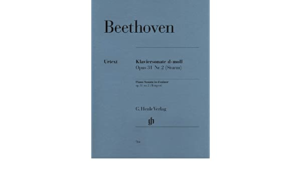 Music Beethoven Sonata No. 17 in D Minor Op. 31 (Tempest)(PA: Ludwig ...