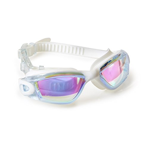 [Bling2o Boys Camp Color War Swim Goggle - Cool Swimming Goggles, Pure White] (Google Glass Costume)