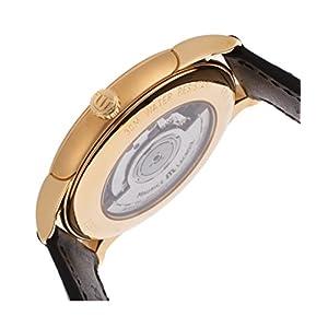 Maurice Lacroix Lc6008-Pg101-130-Blk Men's Les Classiques Auto Black Leather Silver-Tone Dial 18K Rose Gold Watch