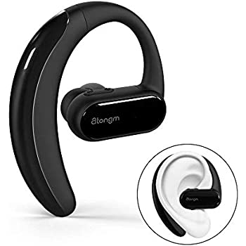 atongm Bluetooth Headset,Wireless Earbud V4.1 Headset with Microphone, 10-Hrs Talking Time Cell Phone Bluetooth Earpiece, Car Bluetooth Headphones for ...