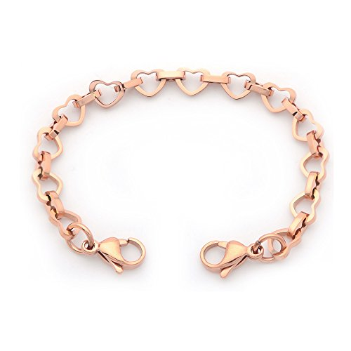 Medical ID Rose Gold Mini Open Heart Stainless Interchangeable ()