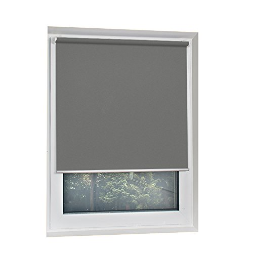 SCHRLING Thermal Insulated Blackout No Drilling Roller Shade Room Darkening Thick Roller Blinds...