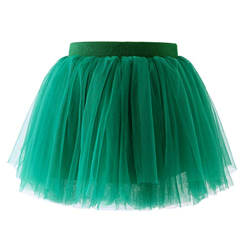 AWAYTR Baby Tutu Skirt for Girls - 4 Layers Soft Tulle Princess Dress Halloween Tutu (XS,Blackish Green)]()