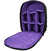 G-raphy Camera Bag Camera Backpack with Rain Cover for DSLR Cameras , Lens, Tripod and Accessories (Purple, Large)