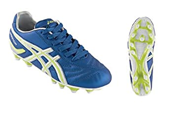 JuniorFuballwbr/Schuhe ASICS WARRIOR JR NR electric blue neon gelb JSP992