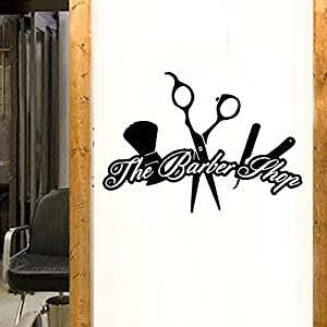 Wall Stickers, Wall Decals, Wall Paintings, Wall Tattoos, Wall Posters,DIY Art Hair Salon Barber Shop Wall Sticker Waterproof Wall Decor Sticker Mural Home Decoration Vinyl Background Wall Decals