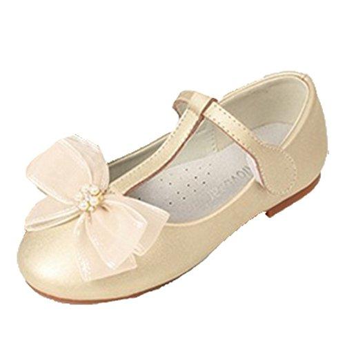 Ohmais Kinder Mädchen flach Freizeit Sandalen Sandaletten Kleinkinder Mädchen Halbschuhe Sandalette Ballerinas Golden
