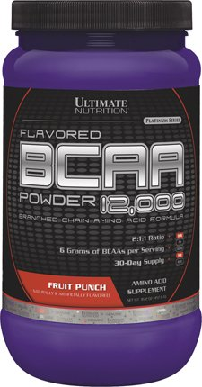 Ultimate Nutrition BCAA 12000 Powder, Fruit Punch, 457 ()