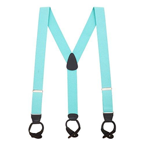 Suspender Store Mens Tiffany Blue Suspenders - 1.5 Inch Wide - Usa Tiffany Store