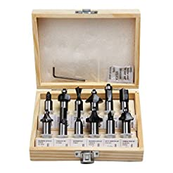 FivePears Tungsten Carbide Router Bits -...