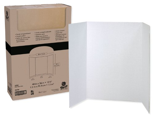 - Pacon Tri-Fold Presentation Board, White, 48