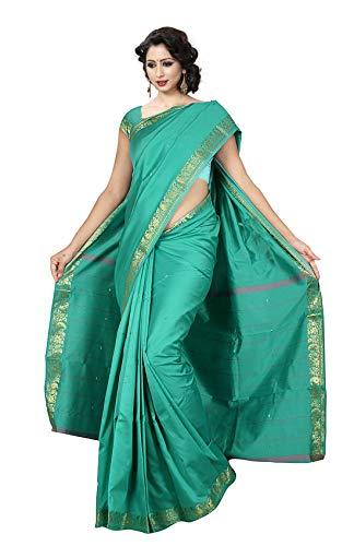 (KoC Indian Traditional Ethnic Women wear Art Silk Saree -Seagreen)