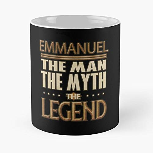Emmanuel The Man Myth Legend Gifts For Label - Funny Mug Coffee Gift For Christmas Father's Day