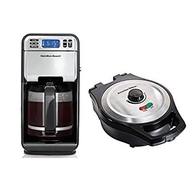 Hamilton Beach 12-Cup Coffee Maker + Proctor Silex Belgian Style Waffle Maker
