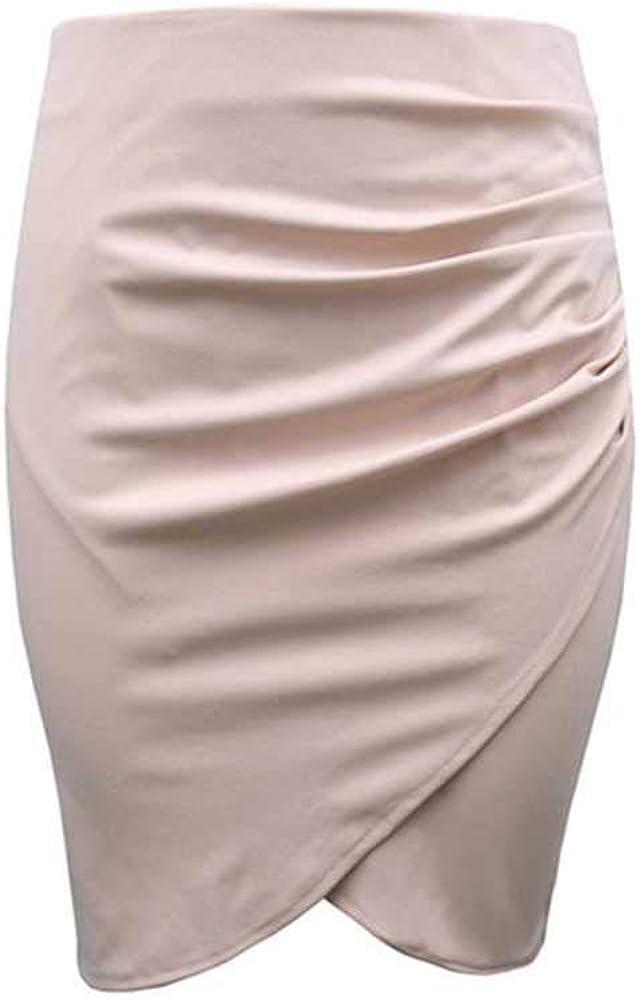 NOBRAND Falda de mujer de cintura alta faldas de oficina para mujer