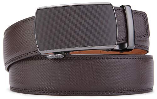 Men's Belt,Bulliant Slide Ratchet Belt for Men Genuine Leather, Trim to Fit