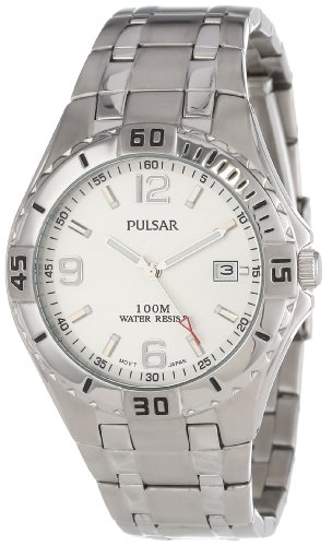 Pulsar Men's PXH705 Sport Stainless Steel Silver Dial Watch