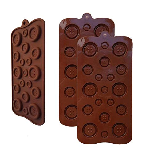 (2 Pack OF X Button silicone Chocolate Soap Sugar DIY Fondant Craft Tray Mold Party maker (Ships From)