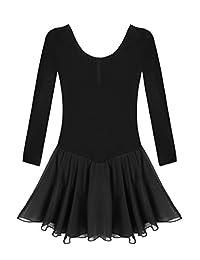 Arshiner Girls Classic Dance Ballet Dress Long Sleeve Leotard