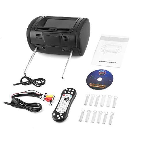 "Florenceenid Universal 7"" Headrest Car DVD Player Black Moni"