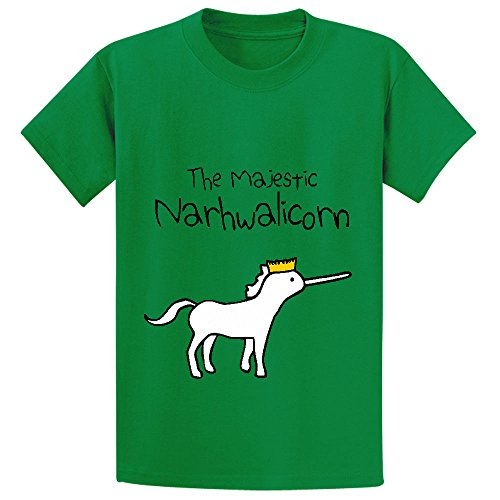 unicorn-the-majestic-narwhalicorn-youth-cotton-crew-neck-t-shirt-green