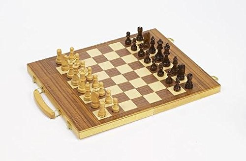 - Gamester Folding Chess Set in Maple/Walnut