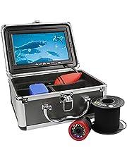 Underwater Fishing Camera, Ice Fishing Camera Portable Video Fish Finder w/IR Lights, 7 inch HD Screen, for Ice, Lake, Boat, Sea Fishing