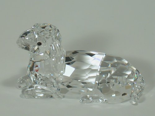 Swarovski Crystal Figurine 631437, Mother Sheep Lying