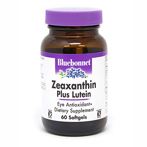 Bluebonnet Nutrition Zeaxanthin Plus Lutein Softgel, Lutein & Zeaxanthin, Eye Health & Blue Light Exposure, Lutein from Marigold, Zeaxanthin from Paprika, Gluten Free, Soy Free, Milk Free, 60 Softgels
