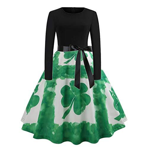 (Haluoo Christmas Sweater, Womens Ugly Vintage Long Sleeve Sweater Dress Elk Hoodie Drawstring Midi Dress (Large, Green))