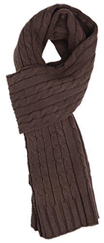 Sakkas SC1961 Ellington Unisex Knit Scarf - Cable Knit ()