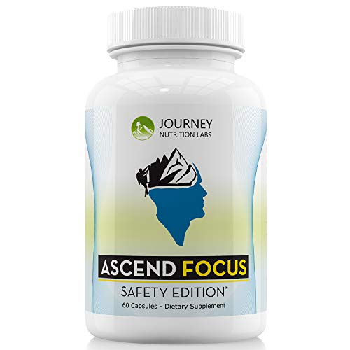 Ascend Focus: Safety Edition - Brain Supplement Scientifically Formulated for Focus, Memory, and Clarity: Safer - with Extra Strength Lions Mane, Phosphatidylserine, ALCAR, Alpha GPC, and More