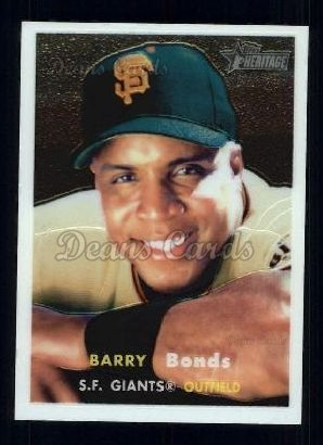 2006 Topps Heritage Chrome # 50 Barry Bonds San Francisco Giants (Baseball Card) Dean's Cards 8 - NM/MT Giants