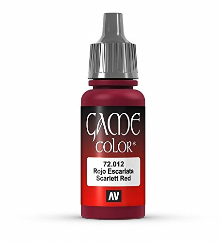 Vallejo Game Color Scarlett Red Paint, 17ml
