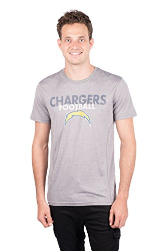 (NFL Los Angeles Chargers Men's T-Shirt Athletic Quick Dry Active Tee Shirt, Medium, Gray )