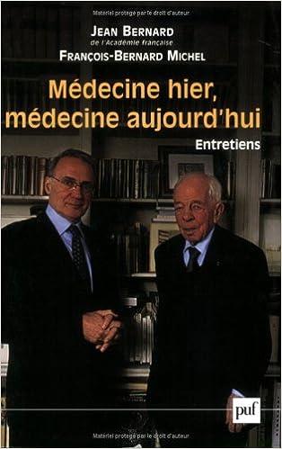 Livre gratuits Médecine hier, médecine aujourd'hui pdf ebook