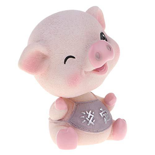 - SM SunniMix Bobbing Head Pig Cartoon Bobblehead Piggy Figurines, Home/ Car Dashboards Decoration Ornaments, 3 Types for Choose - Pattern 2