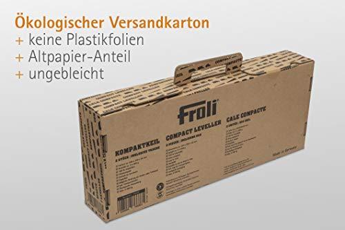 41QciK4DWJL Froli Auffahrkeil für Wohnmobil, Wohnwagen, Reisemobil und Camper, Ausgleichskeile Set, 2x Kompaktkeil, 1x Keil-Tasche…