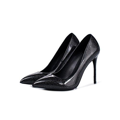 Femmes Travail Chaussures Belle Hauts Classique Pointu En Printemps 10cm Talons Cuir Mariage Pompes Véritable De Bout Mesdames rnCrHw7xPq