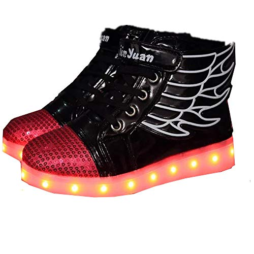 Sunny Day Children's LED Luminous Light Shoes Casual Colorful Lights Shoes(Black-36/4 M US Big Kid) (Kaufen Sunnies Online)