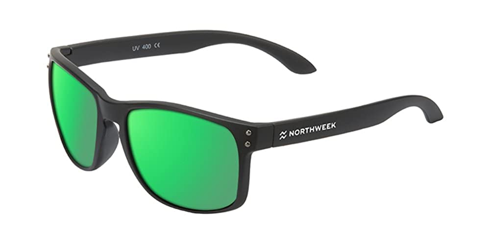 Northweek Bold Venice - Gafas de Sol Polarizadas, Negro/Verde