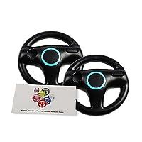El paquete GH 2 para el volante de Wii para Mario Kart 8 y otros juegos de conducción remotos de Nintendo, el volante de carreras de Wii (U) para el control remoto Plus - Bomb Black (6 colores disponibles)