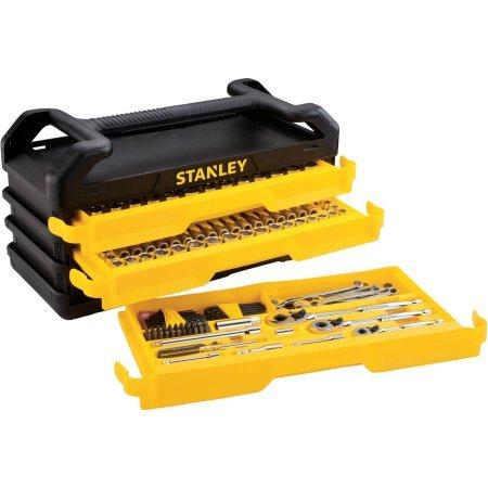 Stanley Full Polish 235pc Mechanics tool Set with 3-Drawe...