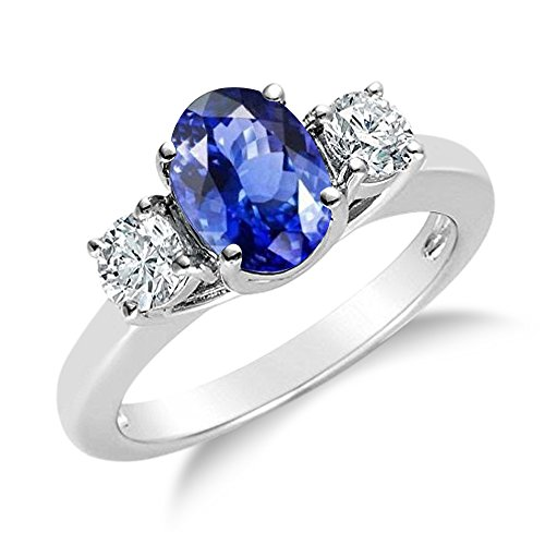 Voss+Agin 14k Gold Natural Sapphire and Diamond Ring, 1.70ctw (8) 14k White Gold Sapphire & Diamond Ring
