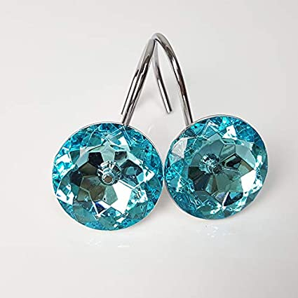Amazon Xshelley Acrylic Diamond Shower Curtain Hooks Rings