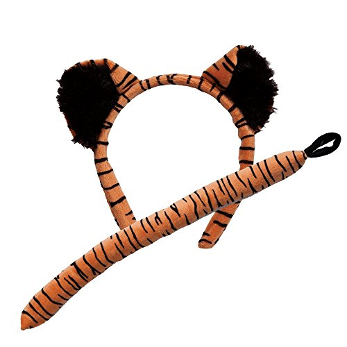Tiger Dress For Kids (Animal Ears & Tail Set - Tiger Kids Fancy Dress)