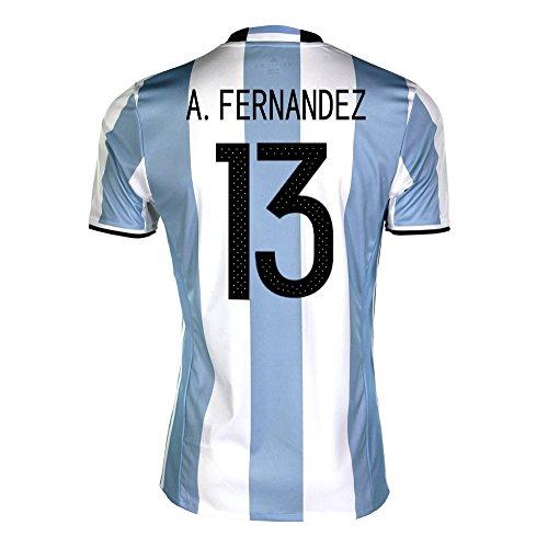 セッション上に築きますスリップA. Fernandez #13 Argentina Home Soccer Jersey Copa America Centenario 2016/サッカーユニフォーム アルゼンチン ホーム用 A. フェルナンデス 背番号13