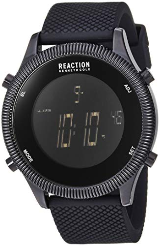 - Kenneth Cole REACTION Men's Digital Analog-Quartz Watch with Silicone Strap, Silver, 21.2 (Model: RK50551001)