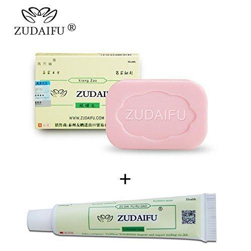 Body Psoriasis Treatment, ZUDAIFU Psoriasis Cream & 1PC Sulfur Soap Kit, Natural Antibacterial Ointment Herbal Creams for Dermatitis and Eczema Pruritus Psoriasis Skin Health