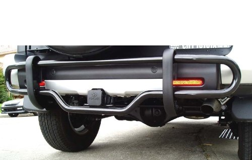 Toyota FJ Cruiser Black Rear Back Bumper Guard - Fits the 2007, 2008, 2009, 2010, 2011, and 2012 Toyota FJ Cruiser